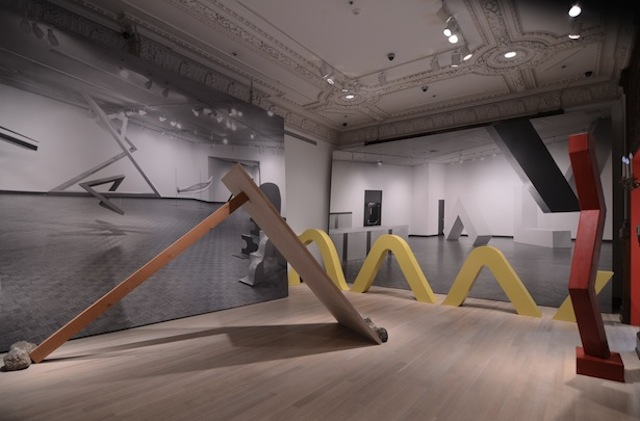 Installation view of Other Primary Structures (courtesy of the Jewish Museum)