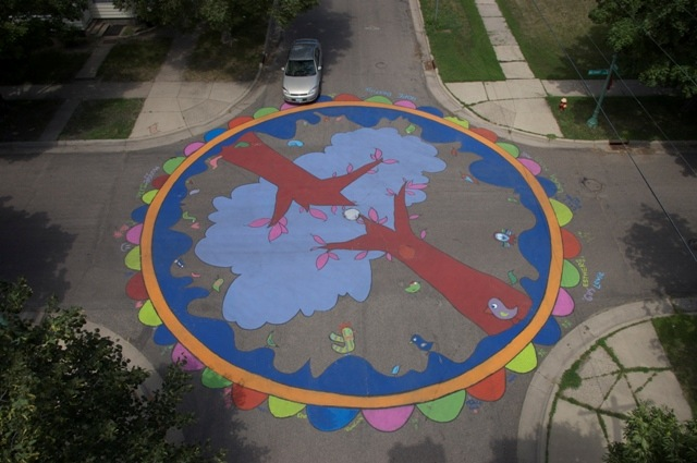 A mural at Iglehart and Moore in St. Paul, Minnesota (courtesy Paint the Pavement)