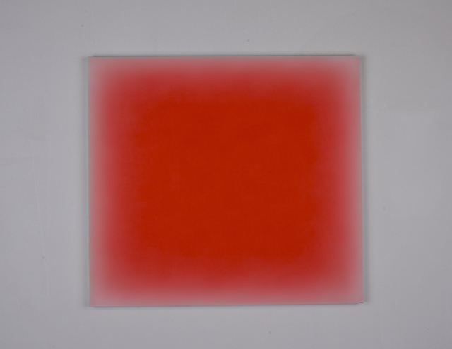 "Tom Chamberlain, ""Mirage"" (2014), acrylic on canvas, 50 x 55 cm"