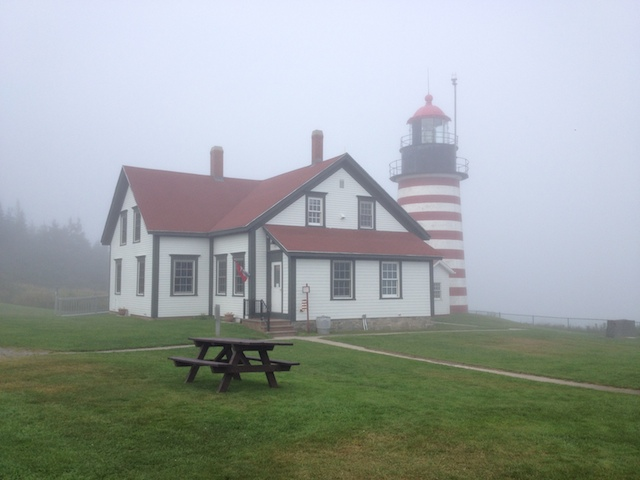 The West Quoddy Head Lighthouse, Lubec, Maine