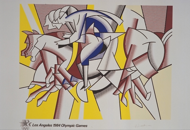 Roy Lichtenstein, LA Olympics poster (1984) (Knapp Communications Corporation, ed., Alan Lithograph, Inc.)