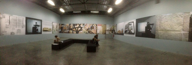 Far end of the installation (photo by the author for Hyperallergic)