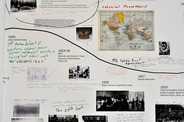 """Detail of Sam Durant's """"There's No Such Thing as a Time Line"""" (2014)"""
