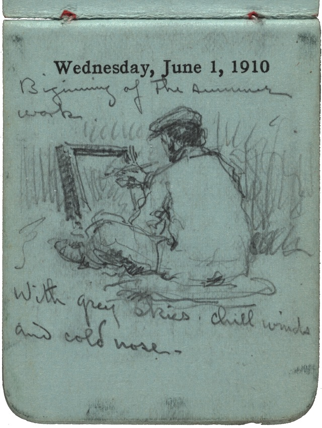 F. Luis Mora's 242 monthly pocket diaries, 1899-1922. (Image courtesy of the Archives of American Art, Smithsonian Institution)