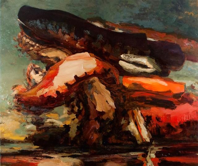 "Dana Saulnier, ""A Month's Mind"" (2012), oil on canvas, 76"" x 90"""