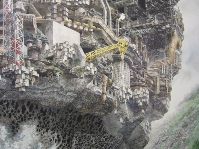 Manabu Ikeda, (b. 1973), Meltdown, 2013. Acrylic ink on paper, mounted on board; 48 x 48 in. Chazen Museum of Art, University of Wisconsin-Madison, Colonel Rex W. & Maxine Schuster Radsch Endowment Fund purchase, 2013.24
