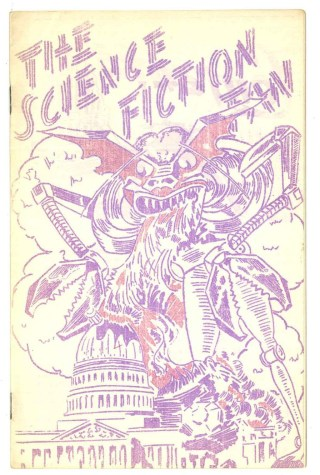Cover of a 1940 issue of The Science Fiction Fan from the Hevelin Collection (courtesy of UI Libraries and Special Collections)