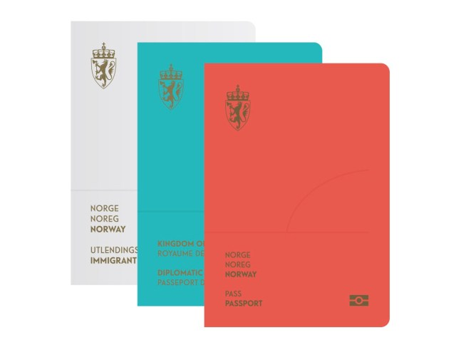 Norway's new passport covers (Image courtesy of Neue)