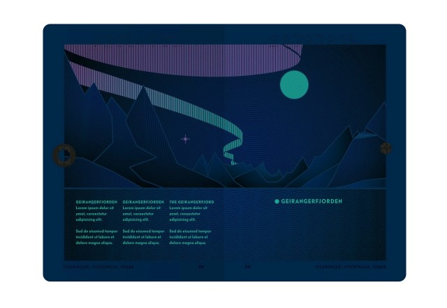 The inside of Norway's new passport under UV light (Image courtesy of Neue)