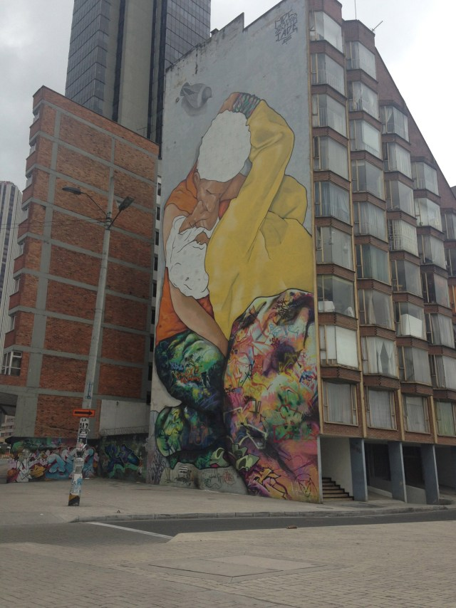 """""""El Beso de los Invisibles"""" mural, to which Zas contributed (click to enlarge)"""