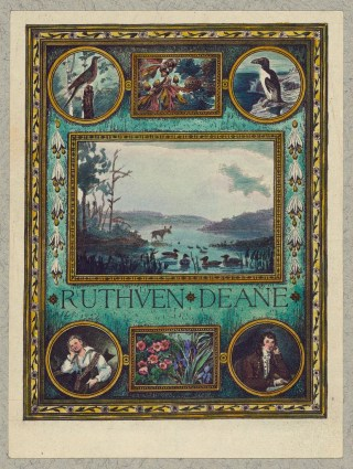 Bookplate of Ornithologist Ruthven Deane, hand-colored by Mrs. Frank S. Hatch, engraved by Sidney Lawton Smith (1924) (via Library of Congress, Prints and Photographs Division)