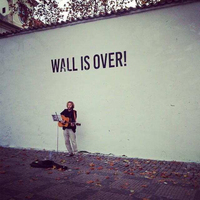 The buffed Lennon Wall (photo by @rickchan66/Instagram)