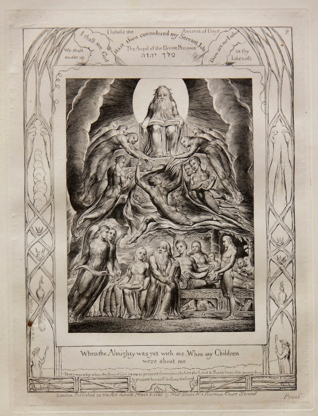 William Blake Satan Before the Throne of God, from Illustrations of the Book of Job, 1825 (published 1826) Engraving on India paper chine collé on wove paper Jansma Collection, Grand Rapids Art Museum, 2014.1c
