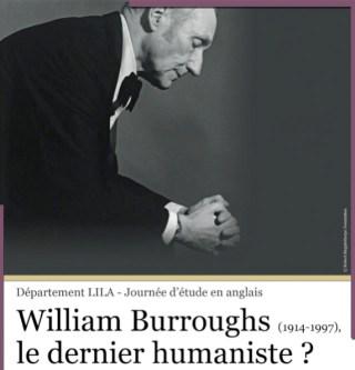"The poster for ""William Burroughs, le dernier humaniste?"""
