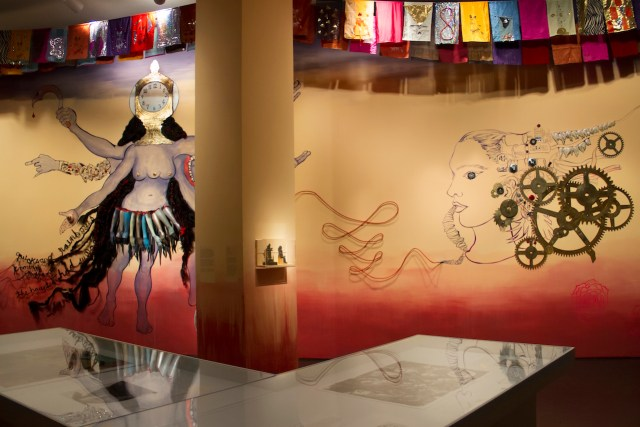 Installation view of Chitra Ganesh, 'Eyes of Time' at the Brooklyn Museum (all photos courtesy of the Brooklyn Museum)