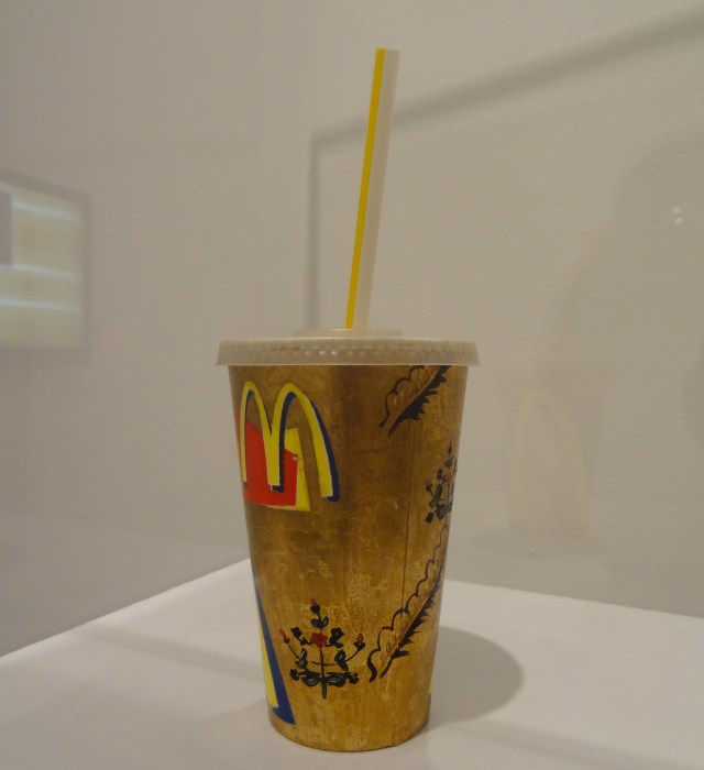 """Darío Escobar, """"Untitled (McDonald's Cup)"""" (1999) in 'GOLD' at the Bass Museum of Art"""