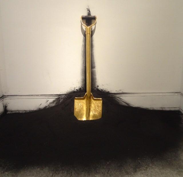 "Robin Rhode, ""Spade"" (2007) in 'GOLD' at the Bass Museum of Art"