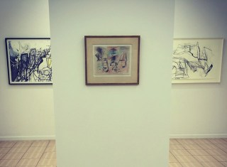 The Arshile Gorky drawing at Outlet's Gorky show. (photo by Hrag Vartanian/Hyperallergic)