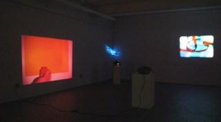 """Slide Slide Slide"" exhibition (installation view with works by Michael Snow, Bradley Eros, Bruno Munari) (via Microscope)"