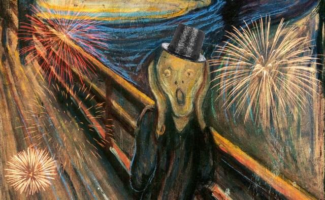 "Edvard Munch, ""The Scream"" (1893) (National Gallery, Oslo, via Wikimedia)"
