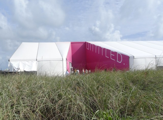 The entrance to Untitled on Miami Beach (all photos by the author for Hyperallergic)