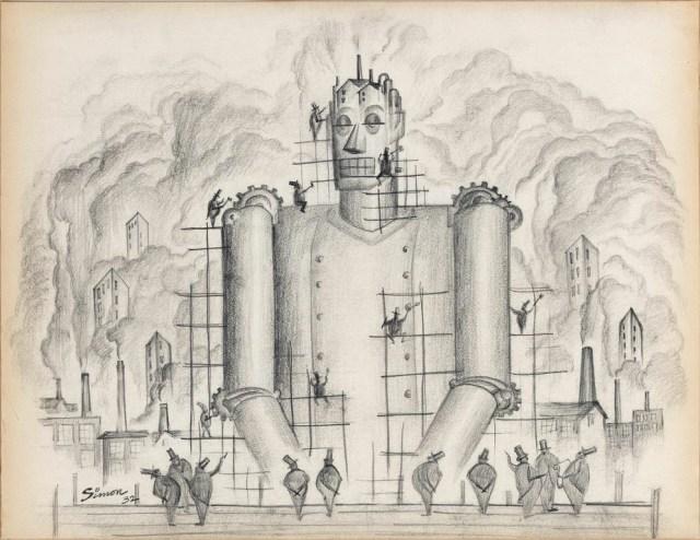 Henry Simon, Untitled (Industrial Frankenstein I), (1932)