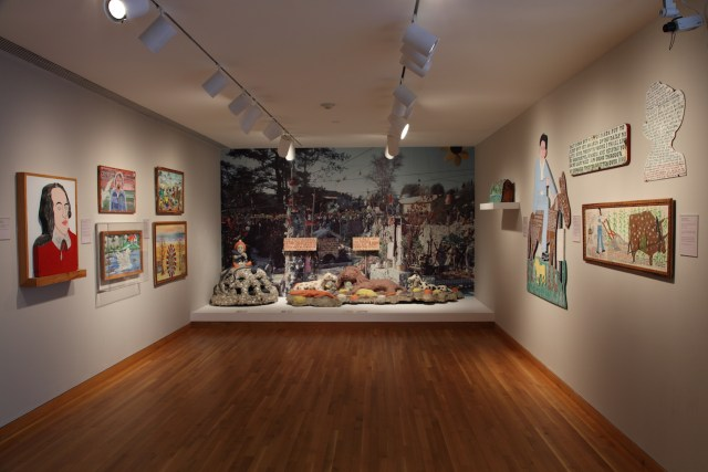 Works by Howard Finster in the High Museum's folk art galleries (photo by Mike Jensen, courtesy the High Museum of Art)