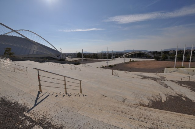 Athens Olympics Complex in 2013 (photograph by Kristof Verslype, via Flickr)