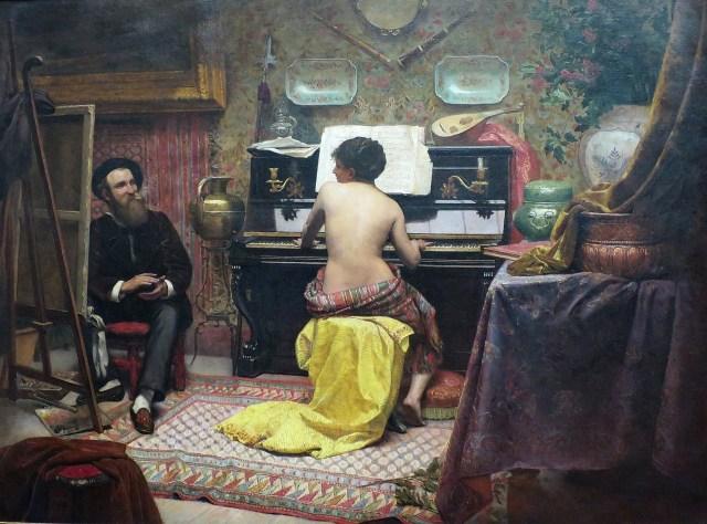 "José Ferraz de Almeida Júnior, ""Model's Rest"" (1882) (via Wikimedia Commons)"