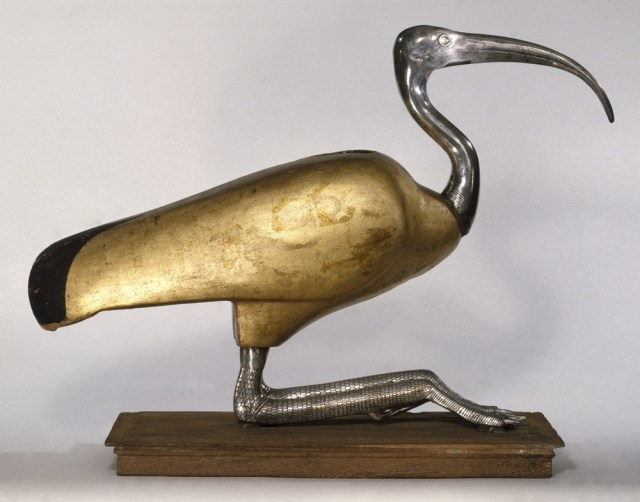 Ibis Coffin.  Possibly from Tuna el-Gebel, Egypt Ptolemaic Period, 305–30 b.c.e. and later additions Wood, silver, gold, and rock crystal. Brooklyn Museum; Charles Edwin Wilbour Fund, 49.48