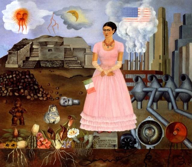 Self Portrait on Borderline - Frida Kahlo (click to enlarge)