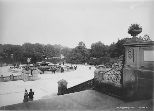 J. S. Johnston, Bethesda Terrace at Central Park (1894) (via Thomas Warren Sears photograph collection, Archives of American Gardens)