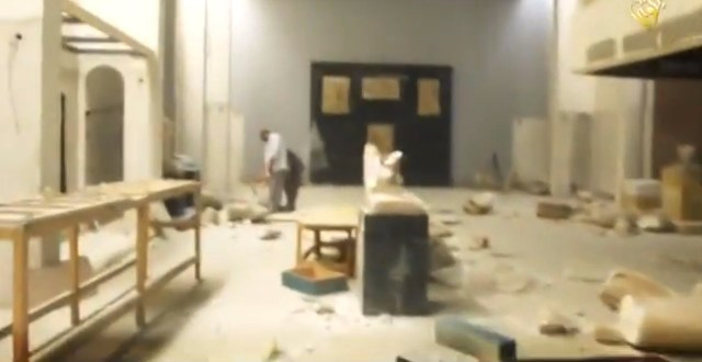 The interior of the Mosul Museum (video screenshot by the author)