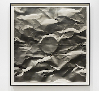 "Sheila Pinkel, ""Folded Paper"" (c. 1974 - 1982), silver gelatin, 50 x 52 inches (courtesy Higher Pictures, New York)"