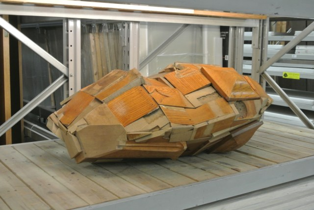 """Chodzko's """"Ark Eye,"""" an extraterrestrial sculptural comppnent of 'Great Expectations,' now in B&Q"""