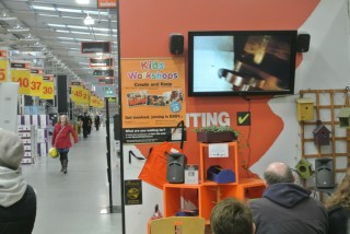 """Chodzko's """"Great Expectations"""" on view in B&Q Gillingham (click to enlarge)"""