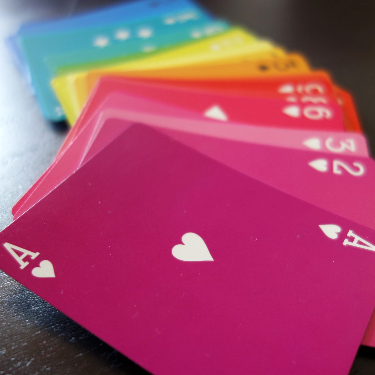 Deal The Colors Of The Rainbow With A New Playing Card Deck
