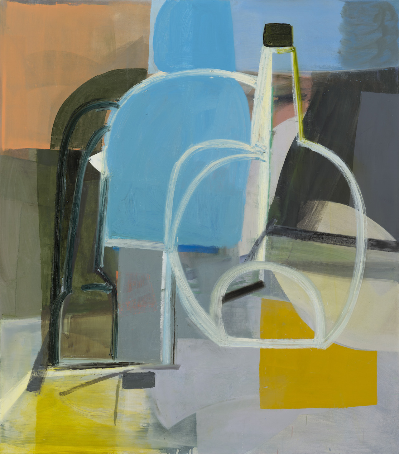 "Amy Sillman, ""Still Life 2"" (2014), oil on canvas (courtesy the artist and Sikkema Jenkins & Co., New York; artwork © 2014 Amy Sillman; Photo by John Berens)"