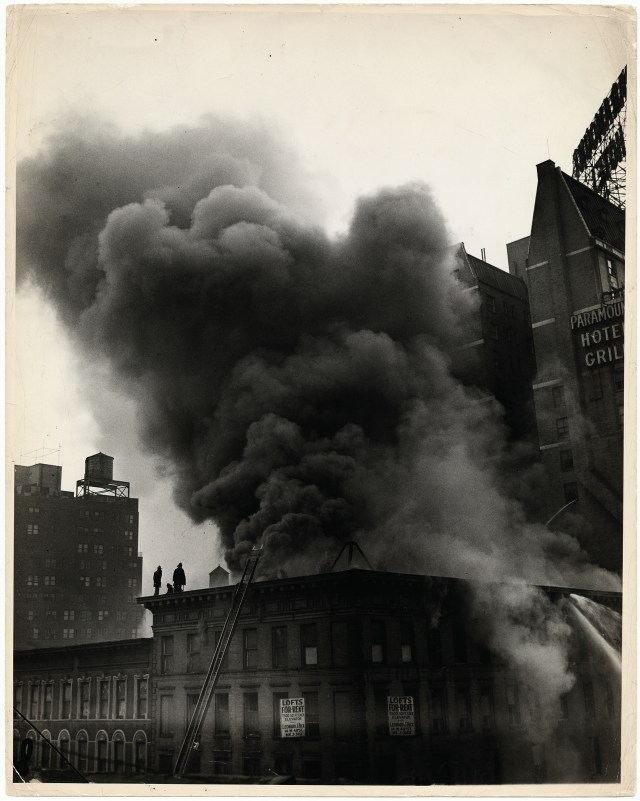 Fire in a loft building at 247 West 46th Street at Eight Avenue (1947)