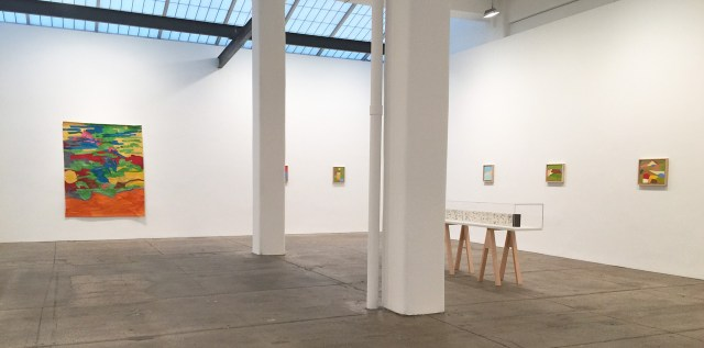 Installation view of Etel Adnan show at Gallery Lelong, New York, April 2015 . (All photos by author for Hyperallergic.)