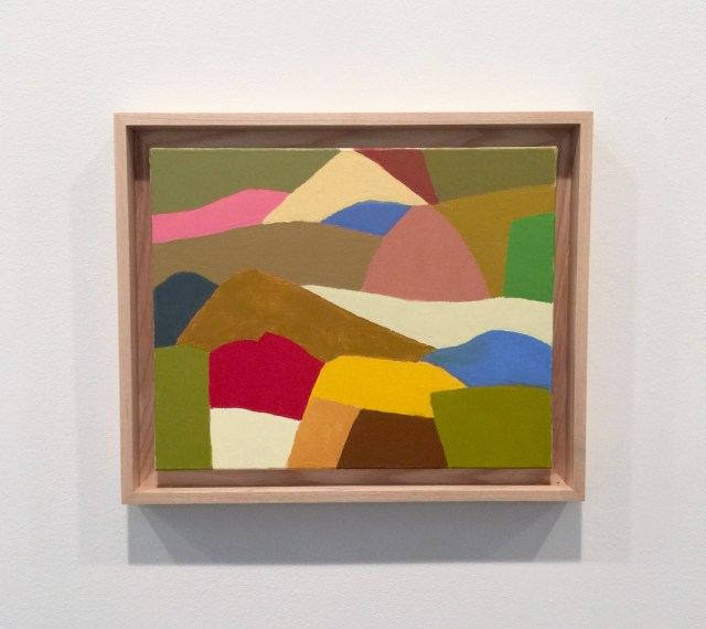 """Etel Adnan, """"Untitled"""" (2014), oil on canvas, 13 x 16.1 inches"""