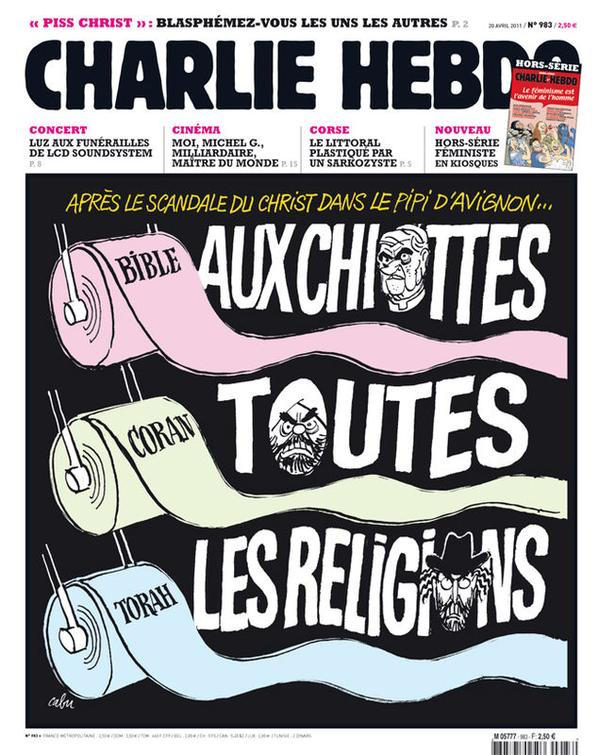 A 'Charlie Hebdo' cover (photo by Mona Okiddo-Eberhardt/Flickr)