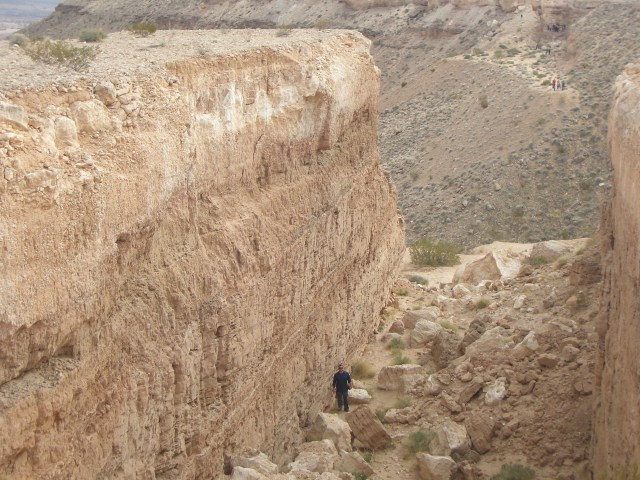 """Image of part of Michael Heizer's """"Double Negative"""" (1969). (source: http://en.wikipedia.org/wiki/Double_Negative_%28artwork%29#/media/File:Double_Negative_Artwork.jpg)"""