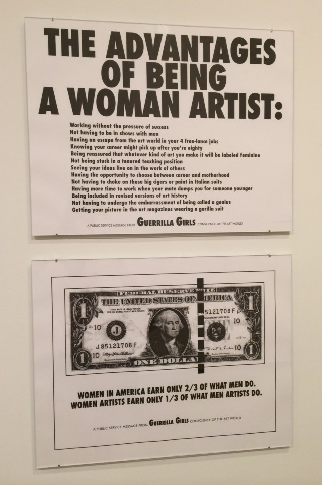 Guerrilla Girls posters from 1989 (top) and 1985 (bottom) (click to enlarge)