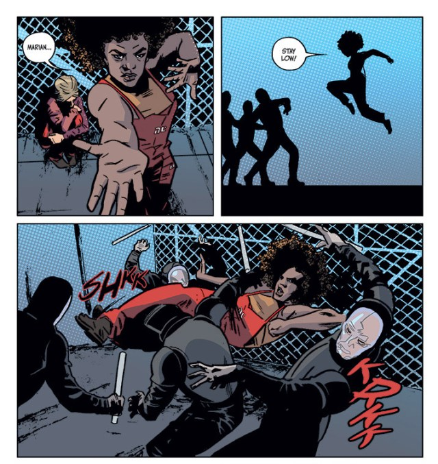 Meet Kamau Kogo. Don't piss her off. From Kelly Sue DeConnick's 'Bitch Planet #1'