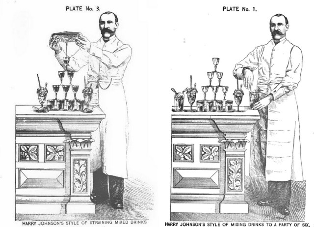 Illustrations in 'The New and Improved Illustrated Bartenders' Manual; Or: How to Mix Drinks of the Present Style' by Harry Johnson (1888) (via Google Books)