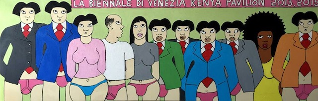 "Michael Soi, ""Shame in Venice 1"" (2015) (Image via Facebook)"