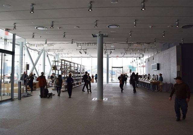 The lobby of the new Whitney Museum