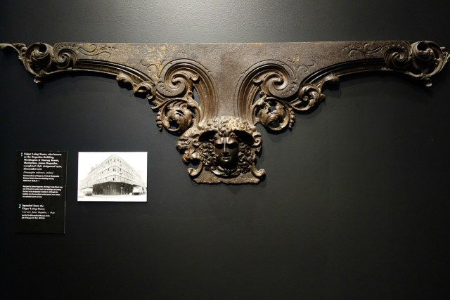 Cast iron spandrel from the Edgar Laing Stores (1849)