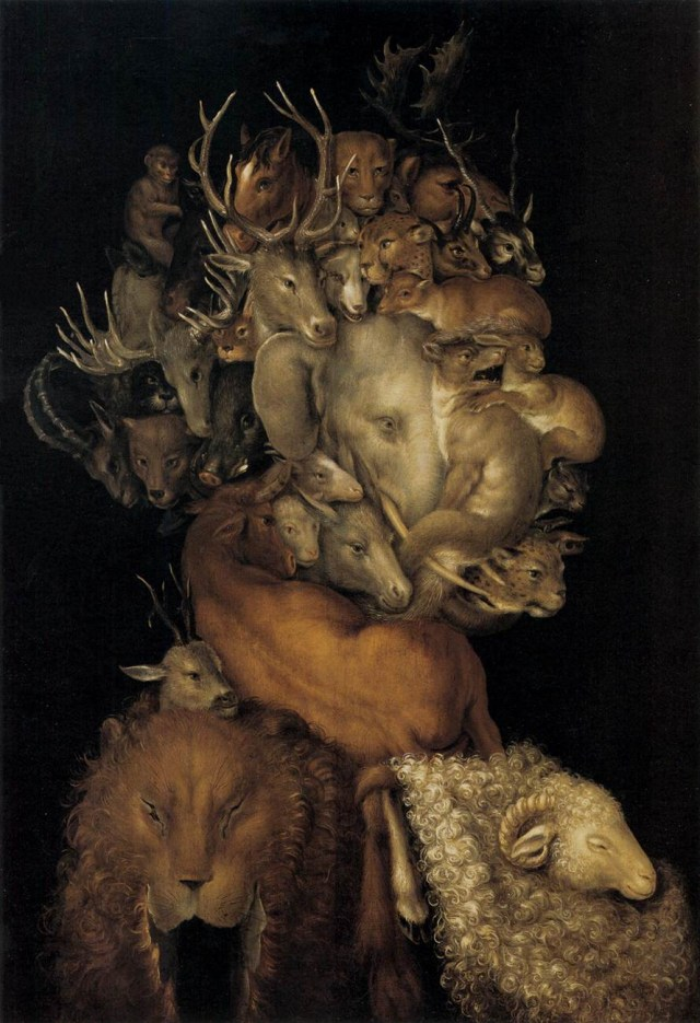 "Giuseppe Arcimboldo, ""Tierra"" (""Earth"") (1566) (via Wikimedia Commons)"